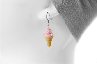 polinacreations Handmade Jewelry Pink Ice Cream Sugar Cone Earrings Topped with Sprinkles. Ice cream Earrings, pink Earrings Fake Food Jewelry Kawaii miniature food jewelry mini food earrings green jewelry green earrings gift for her gift for woman girl rainbow jewelry sprinkle earrings polina creations jewellery strawberry ice cream earrings