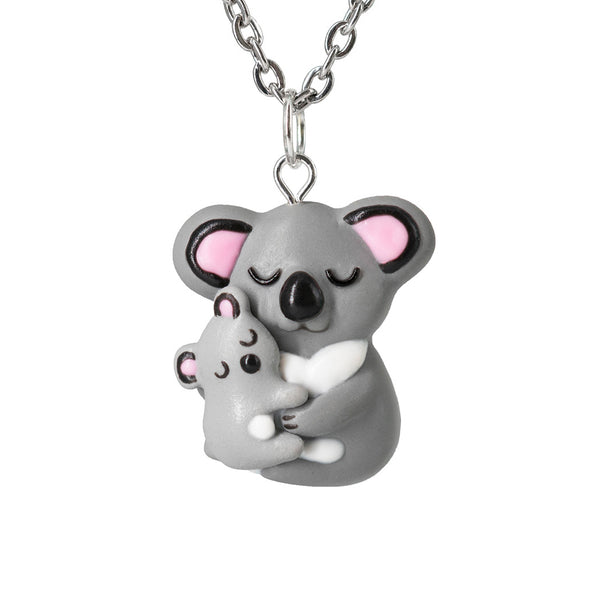 Mothers Day Gift Mama Koala and Baby Necklace. Mother Daughter Jewelry Moms Birthday Gift Australian Animal jewelry Australia Necklace