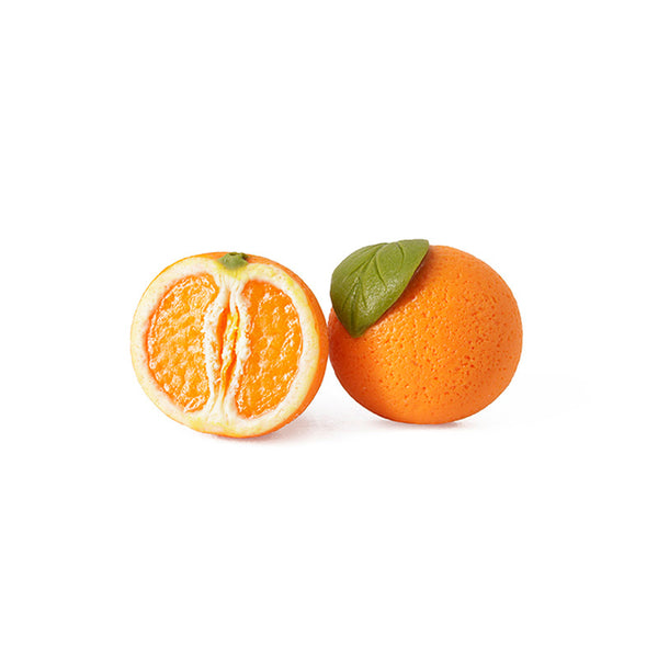 Handmade Orange Fruit Stud Earrings