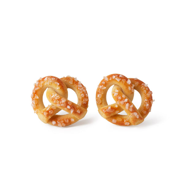 Handmade Pretzel Stud Earrings
