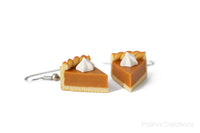 Handmade Pumpkin Pie Earrings, Thanksgiving Gift