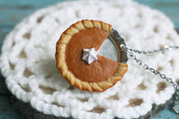 polinacreations Handmade jewelry Polymer Clay Pumpkin Pie Necklace. Pumpkin Pie charm orange charm Orange jewelry orange necklace Fake Food Necklace Pumpkin Pie jewelry Miniature Food autumn jewelry fall jewelry mini food jewelry gift for her Thanksgiving gift Thanksgiving jewelry holiday jewelry pumpkin charm gift for woman
