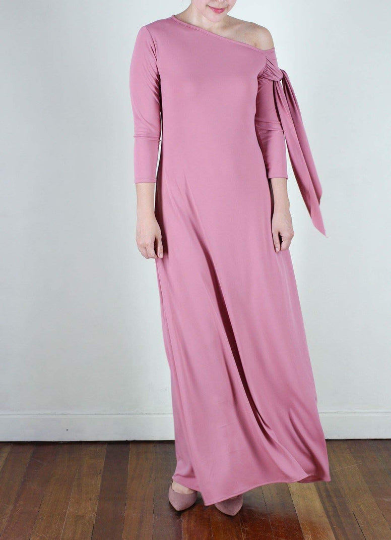 Agustina Gown in Rose Pink