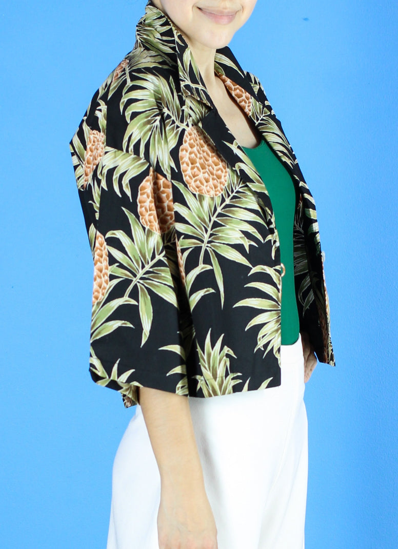 Cindy Printed Bolero in Tropical Chic