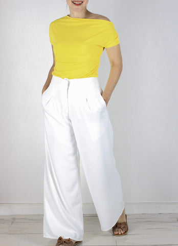 Hansel Pants in White