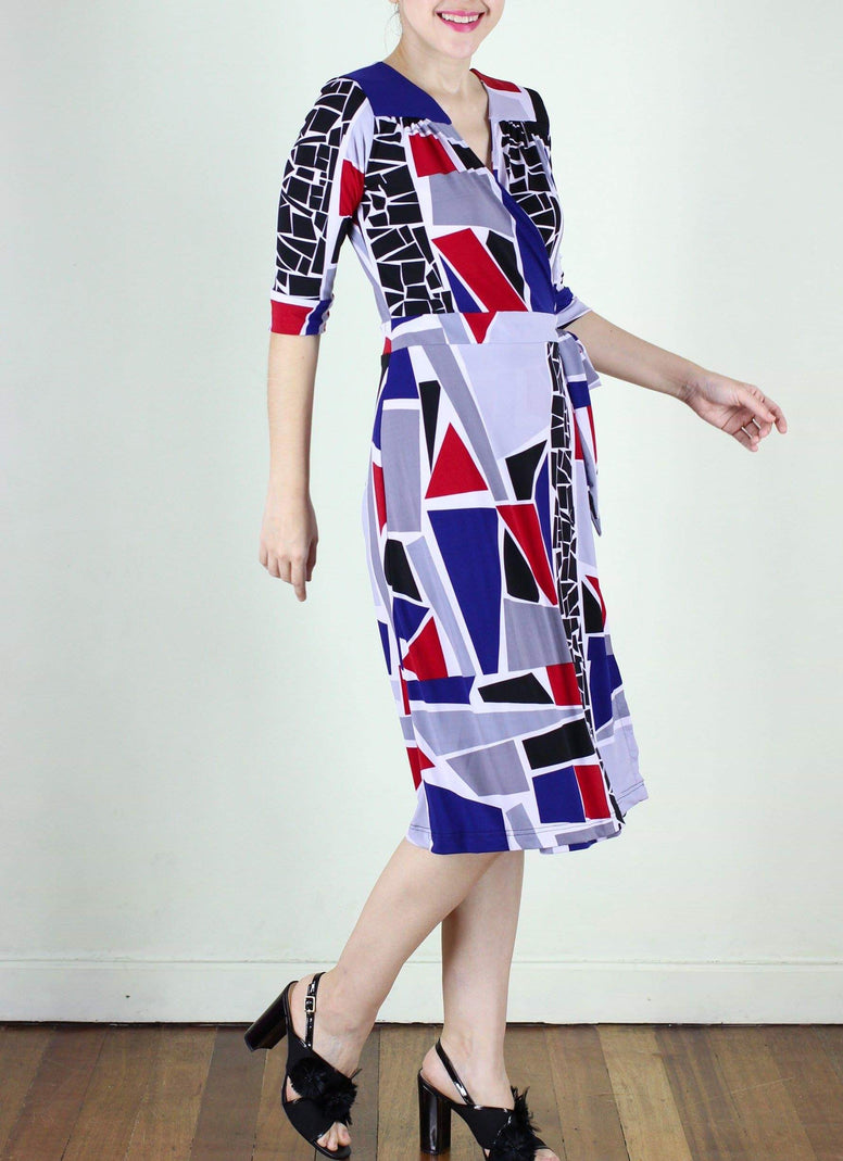 Diane wrap dress in Mosaic