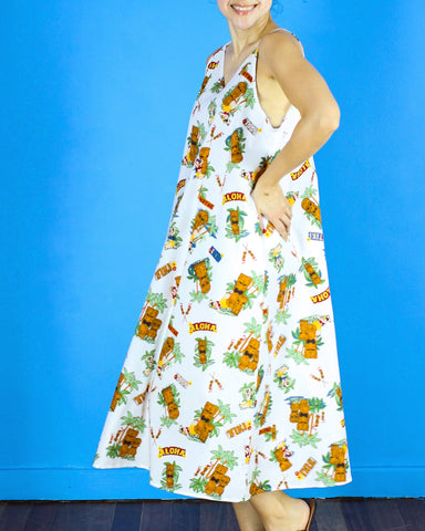 Antonella Maxi Dress in Tiki Print