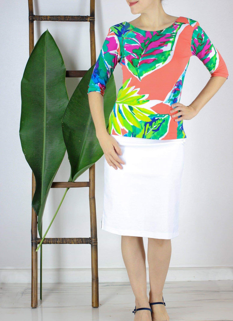 Alby Top in Tropical Print