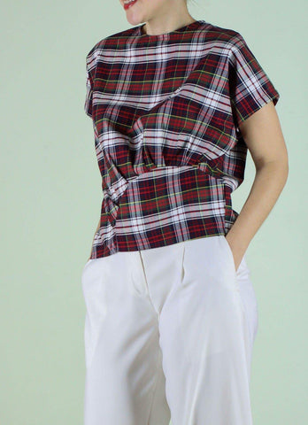 Berlin Top in Plaid