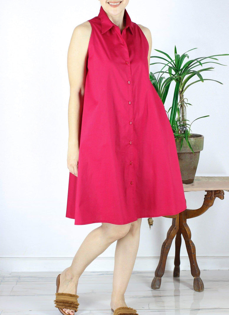 Carys Shirtdress in Red