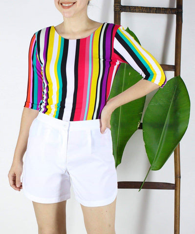 Alby top in Candy Stripes