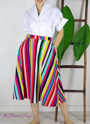 Cruz Skirt in Candy Stripes