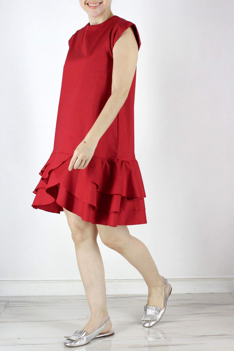 SOLD OUT Rome Dress in Holiday Red