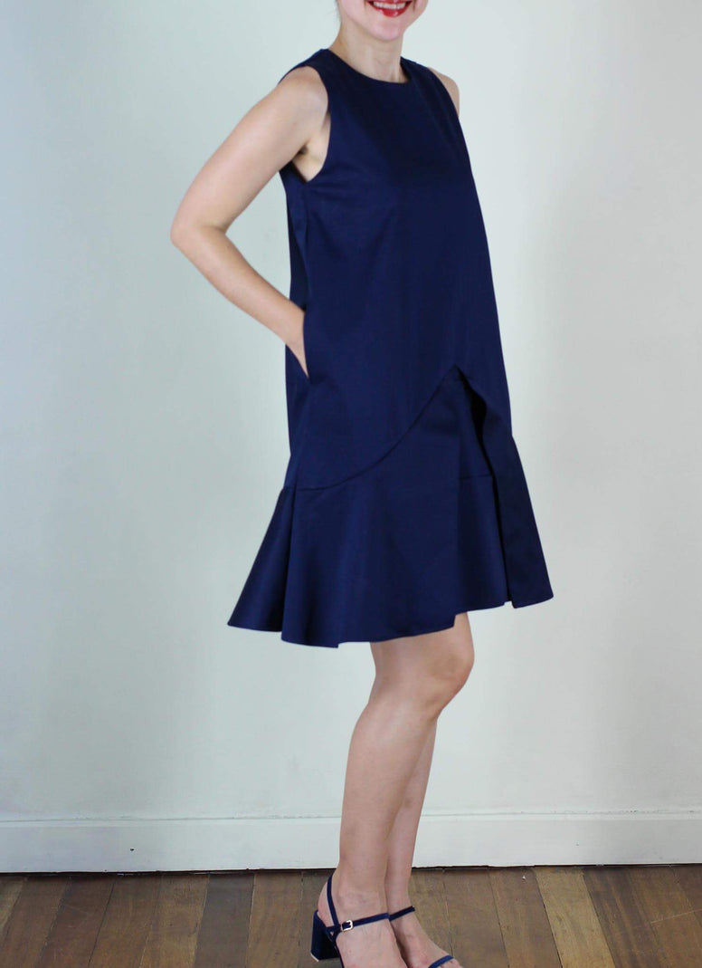 SOLD OUT  Cairo Shift Dress in Navy