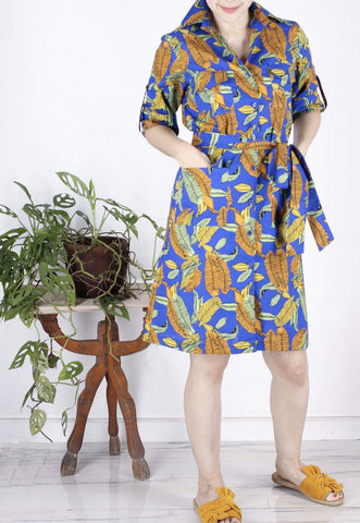 Clara Safari Dress in African Print