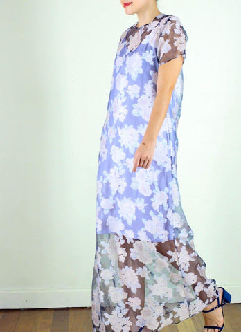 Clara Long Dress in Carnation