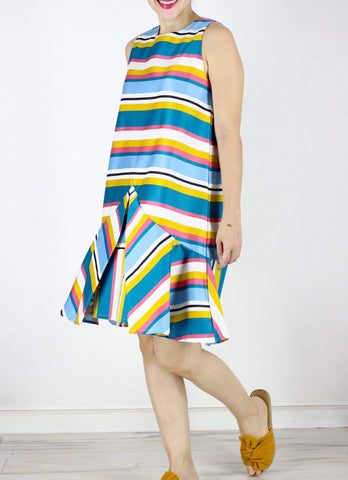 Cairo Dress in Stripes