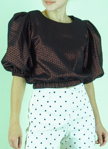 Archie Top in Metallic Polka