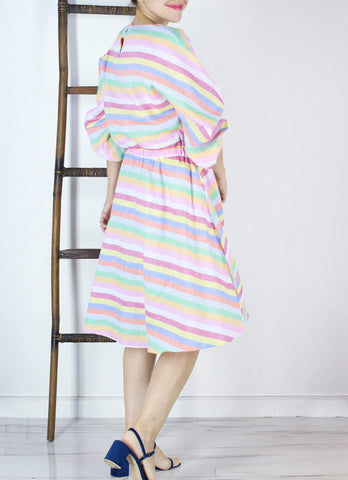 Louie Bohemian Dress in Rainbow
