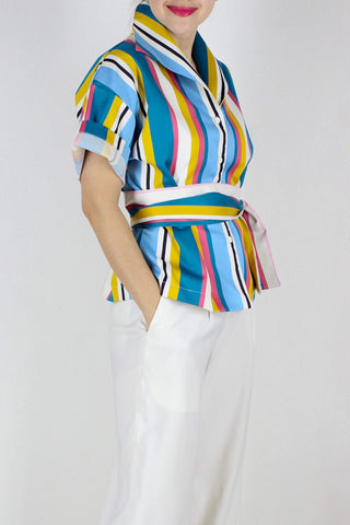 Sicily Top in Summer Stripes