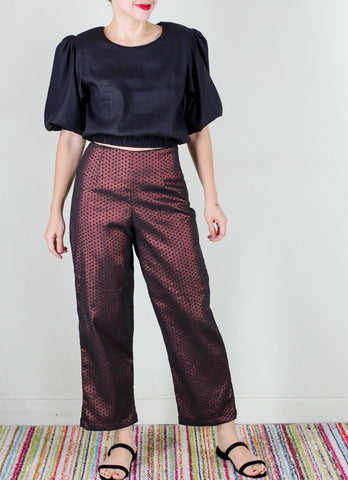 Elbert Pants in Metallic Polka