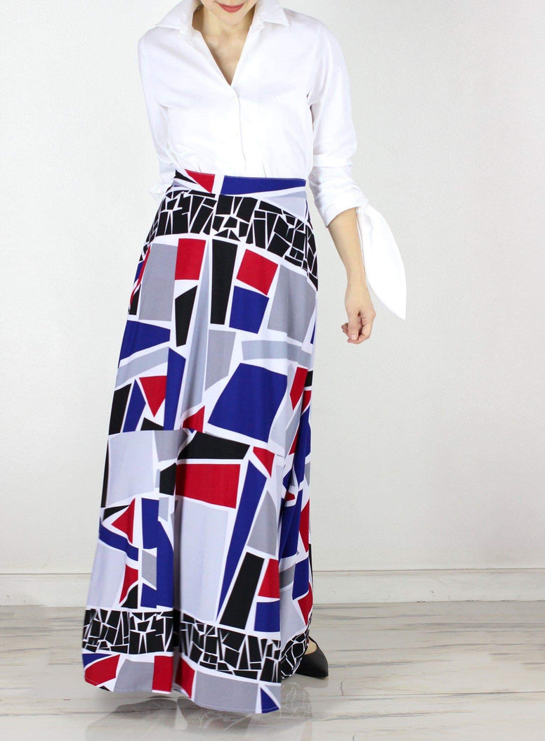 Rooney Maxi Skirt in Mosaic