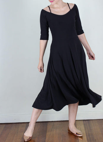 Albertito Ballerina Dress in Black