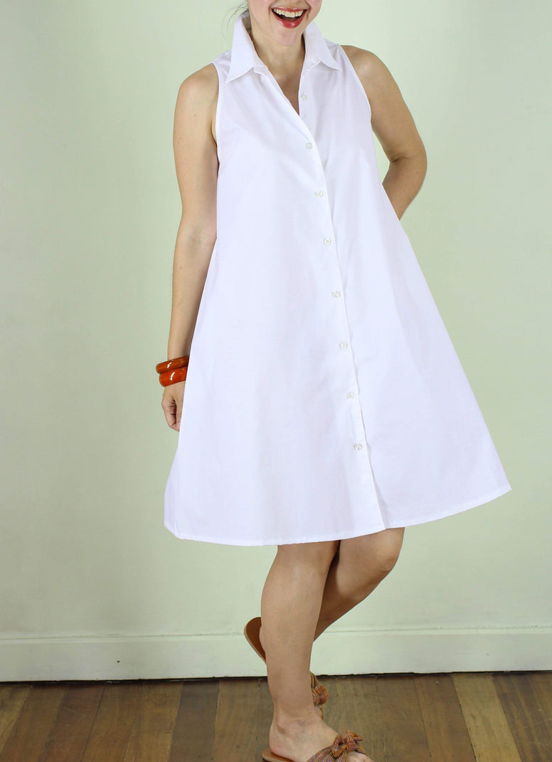 SOLD OUT Carys Shirtdress in White