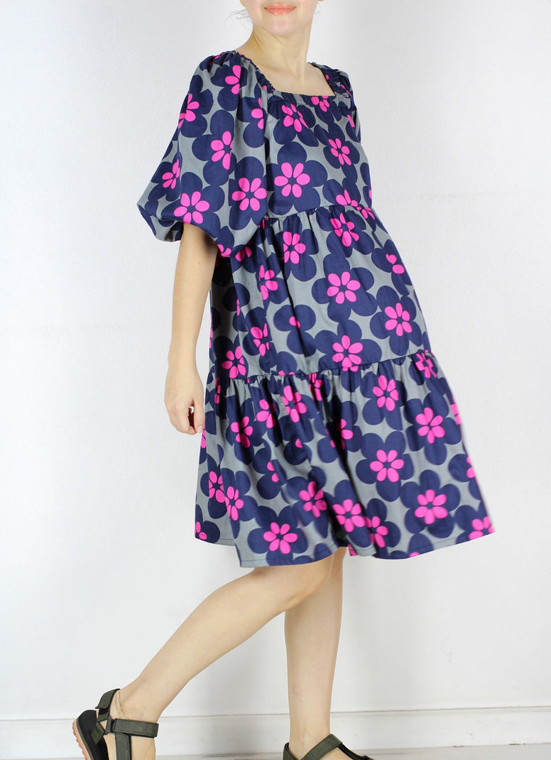 FINAL PC  Meko Tiered Dress in Floral Pop