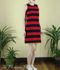 Frederick Dress in Black and Red Stripes