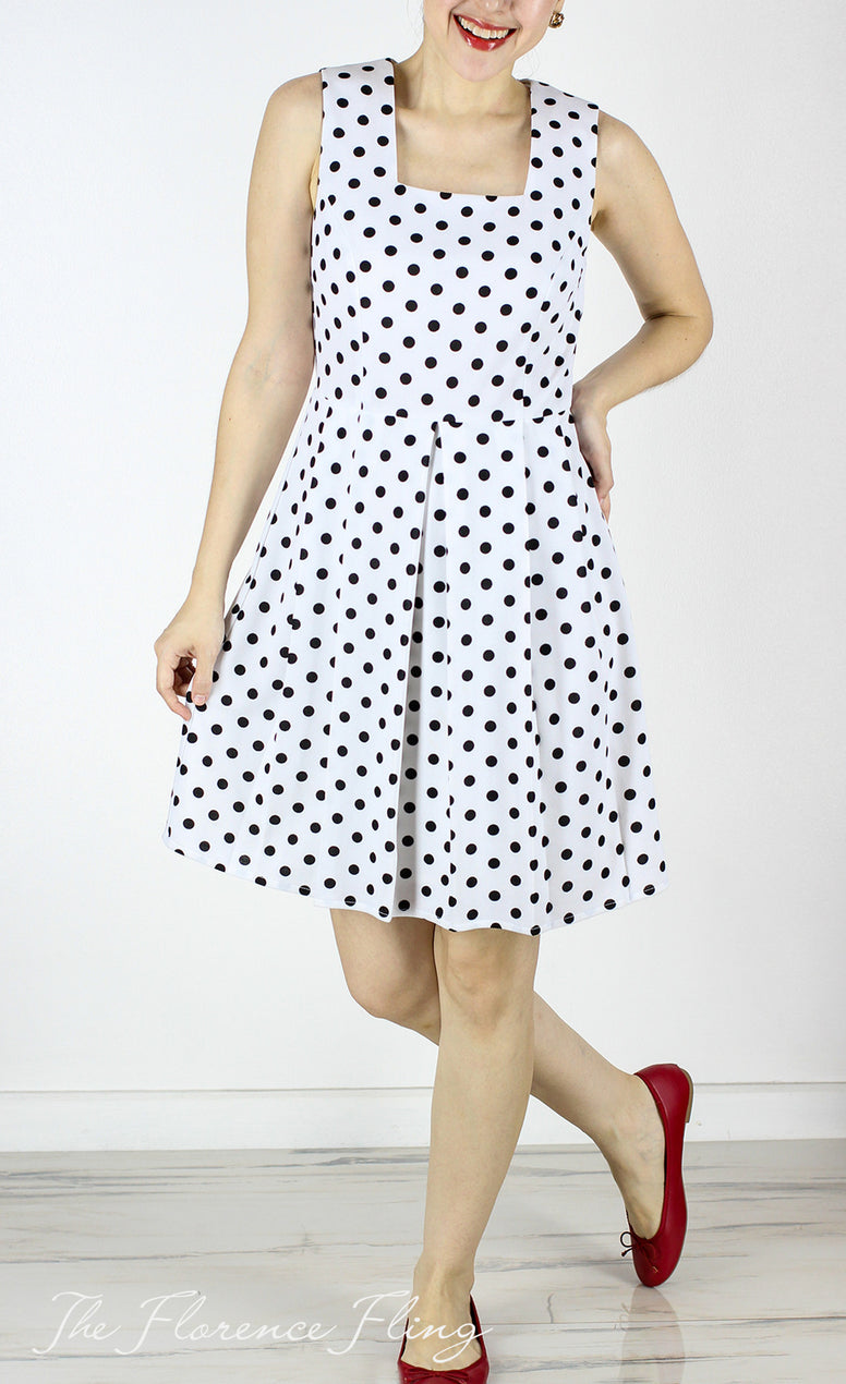 Holly Dress in Happy Polka