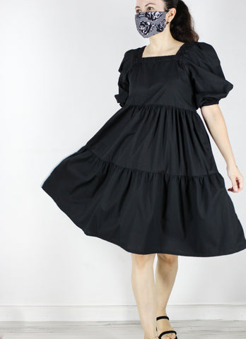 SOLD OUT Meko Dress in Black (with Mask)