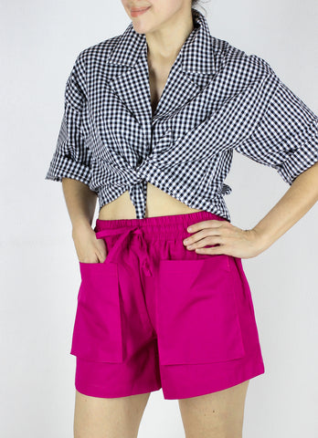 LAST PIECE Emma Shorts in Fuchsia Pink