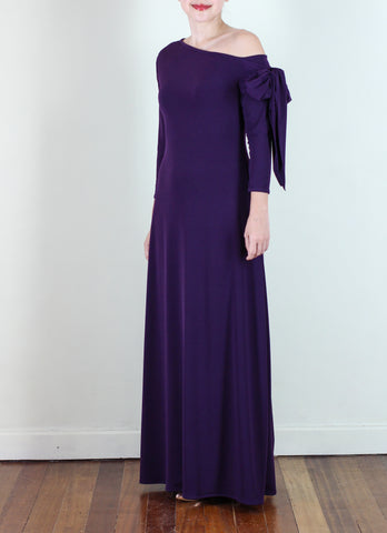 Agustina Gown in Purple
