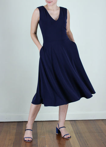 Alberto Dress in Navy Blue