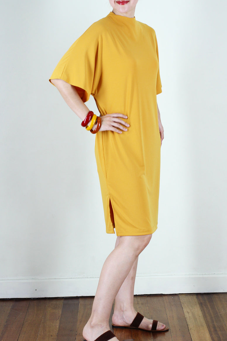 Amaly Dress in Deep Yellow