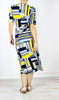 Anna Wrap Dress in Mosaic Print