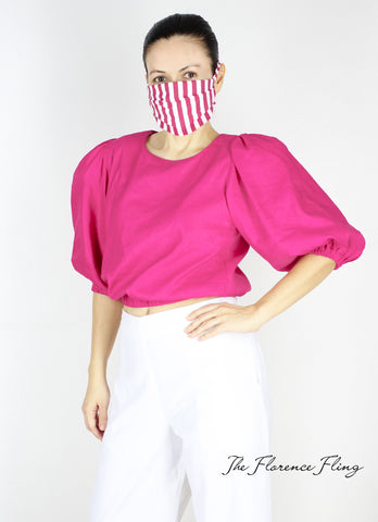 Archie Top in Pink (with facemask)
