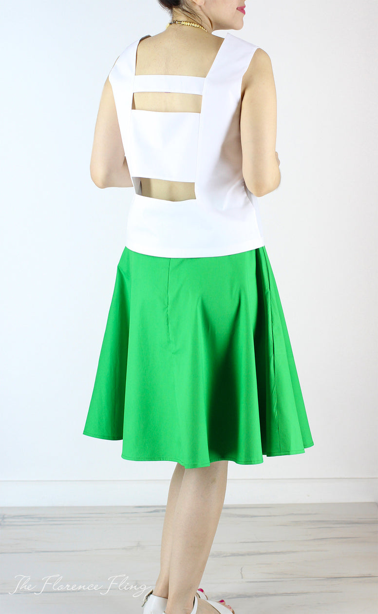 Britta Balloon Skirt in Green
