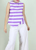 Lea Top in Violet Stripes