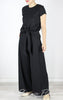 Lino Wide Leg Pants in Black