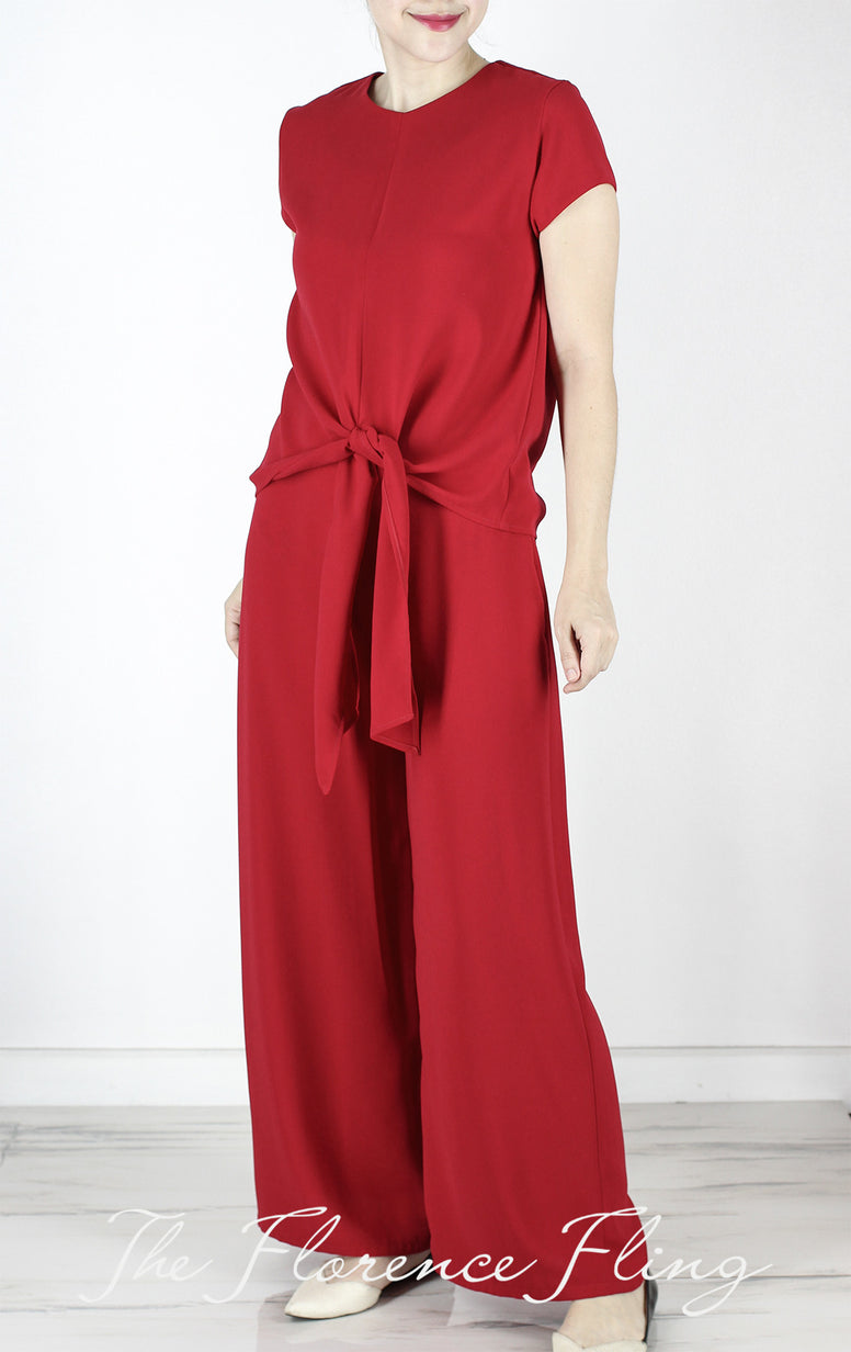 RESTOCKED Lino Wide Leg Pants in Red