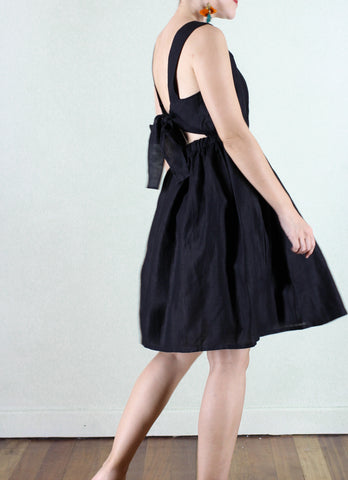 Molly Linen Dress in Black