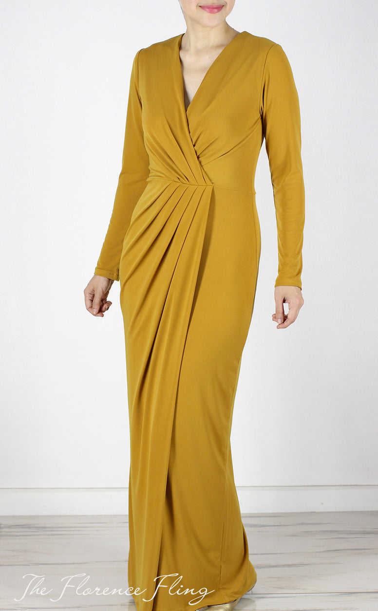 Olivienne Gown in Mustard