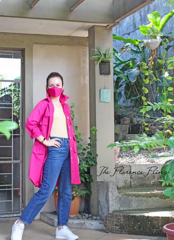 Travel Shirtdress & Mask (TSM) in Pink