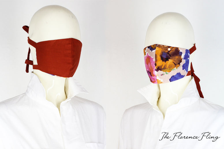 FF Reversible Face Mask in Brown Set