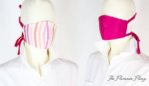 FF Reversible Face Mask in Pink Set