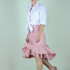 Ricarda Ruffle Skirt in Blush