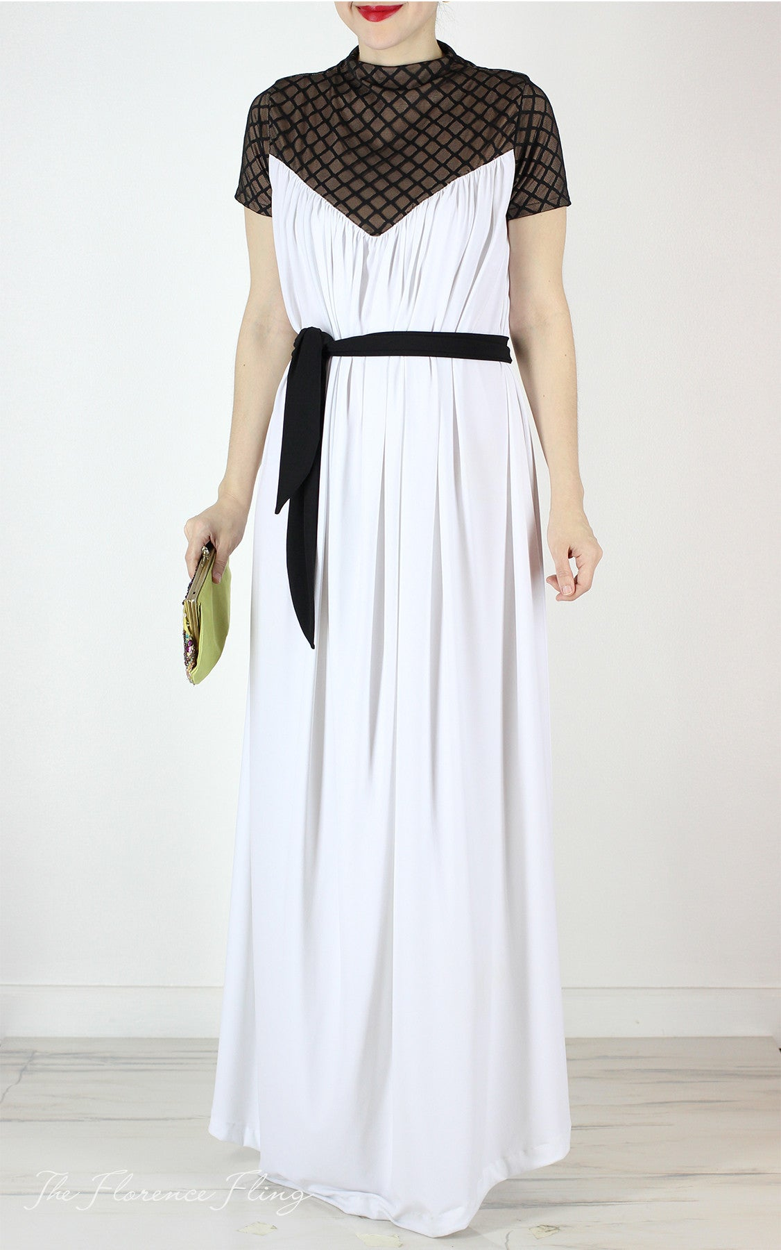 Ruperta Jersey Gown in Vanilla – Florence Fling