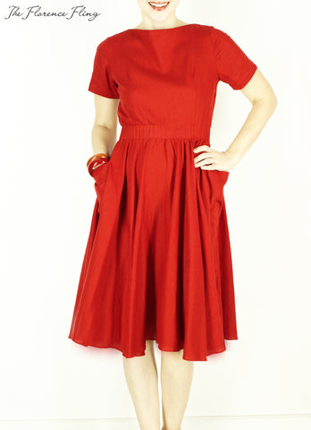Sardinia Dress in Red